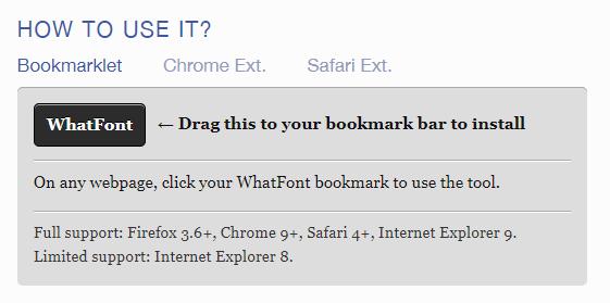 Identificador de fontes WhatFont: como slavar o bookmarklet