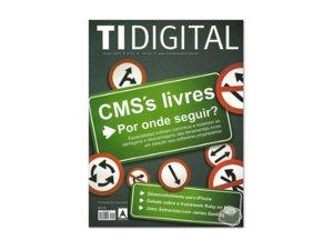 Primeira capa da revista TI Digital