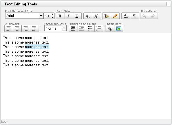 Melhores editores WYSIWYG: YUI Rich Text Editor