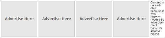 Erro básico de web design: publicidade demais