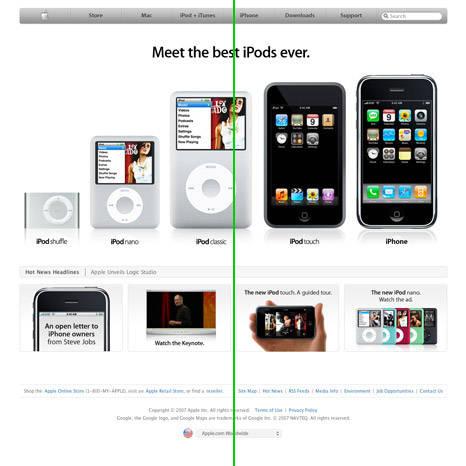 Elemento de design aplicado à web: equilíbrio simétrico