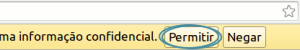 DevTools requisitando permissão de escrita.