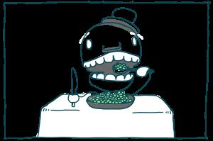 Imagens responsivas com srcset e sizes: comendo ervilhas