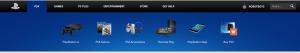 Desktop Drop-Down Menu do Playstation.com