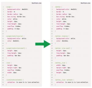 CSS Blocks: exemplo de compilação de código
