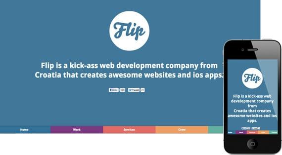 10 dicas para menus responsivos: site Flip.