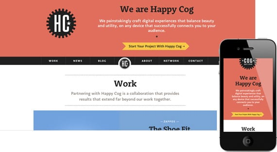 10 dicas para menus responsivos: site Happy Cog.