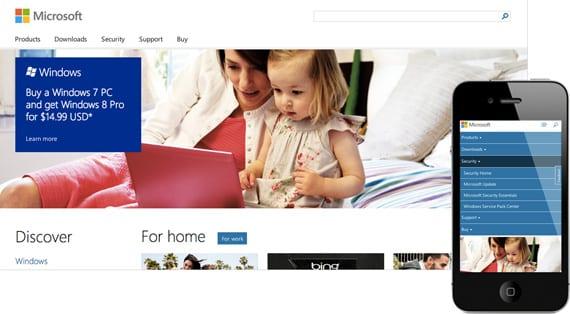 10 dicas para menus responsivos: site Microsoft.