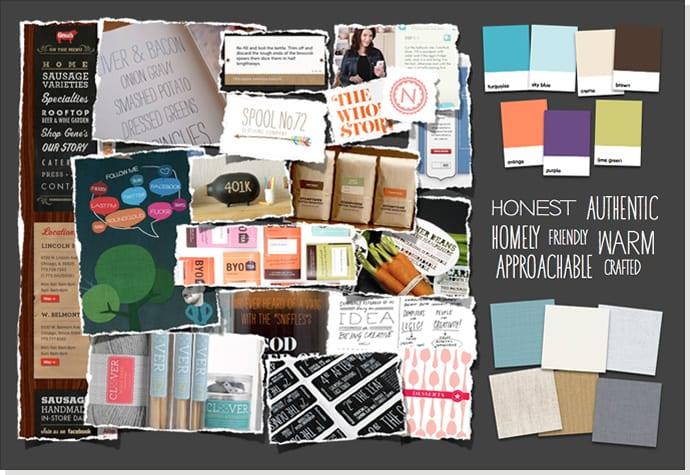 Exploração de design visual: Placas de Humor (Mood boards)