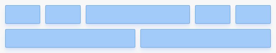 Quebrar linha com Flexbox: quebrando a linha em outro lugar no exemplo.