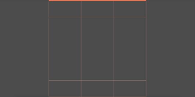 Como criar templates com CSS Grid: resultado inicial do exemplo de grid