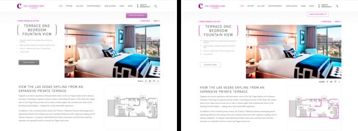 Exemplo do estudo da Nielsen Norman Group sobre flat design.